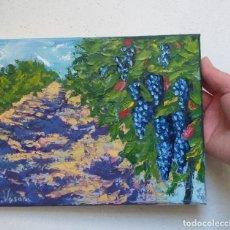Arte: ARTE -PINTURA OLEO SOBRE LIENZO - MODERNA - PAISAJE - VIÑEDO - ABSTRACTO - FIRMADA - 20 X 25 CM.. Lote 240212455