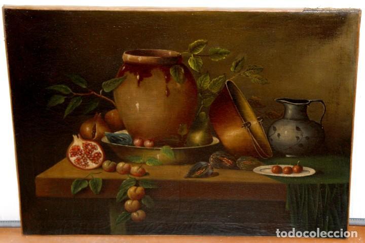 Arte: ESCUELA ESPAÑOLA DE FINALES DEL SIGLO XVIII. OLEO SOBRE TELA. BODEGON - Foto 2 - 240455010