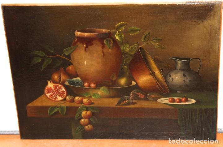 Arte: ESCUELA ESPAÑOLA DE FINALES DEL SIGLO XVIII. OLEO SOBRE TELA. BODEGON - Foto 3 - 240455010