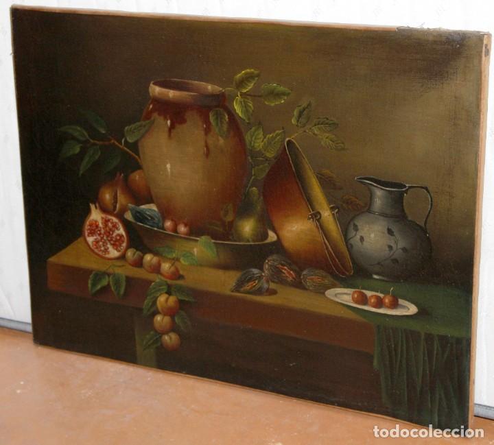 Arte: ESCUELA ESPAÑOLA DE FINALES DEL SIGLO XVIII. OLEO SOBRE TELA. BODEGON - Foto 4 - 240455010