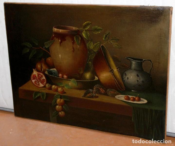 Arte: ESCUELA ESPAÑOLA DE FINALES DEL SIGLO XVIII. OLEO SOBRE TELA. BODEGON - Foto 5 - 240455010