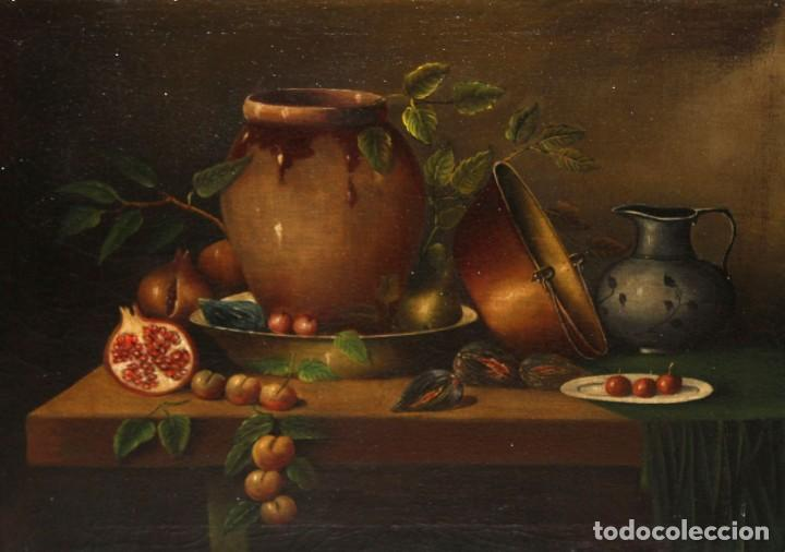 Arte: ESCUELA ESPAÑOLA DE FINALES DEL SIGLO XVIII. OLEO SOBRE TELA. BODEGON - Foto 6 - 240455010