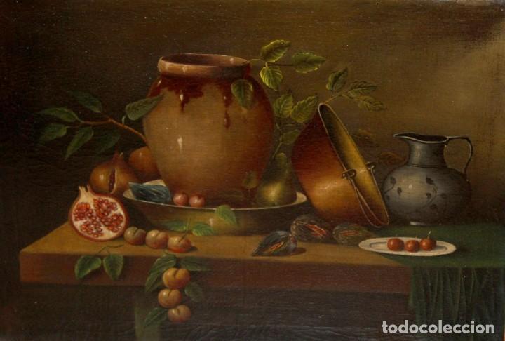 Arte: ESCUELA ESPAÑOLA DE FINALES DEL SIGLO XVIII. OLEO SOBRE TELA. BODEGON - Foto 7 - 240455010