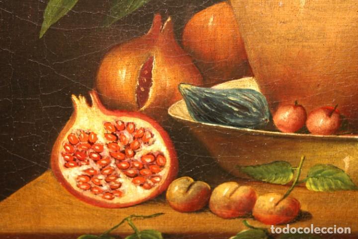 Arte: ESCUELA ESPAÑOLA DE FINALES DEL SIGLO XVIII. OLEO SOBRE TELA. BODEGON - Foto 8 - 240455010