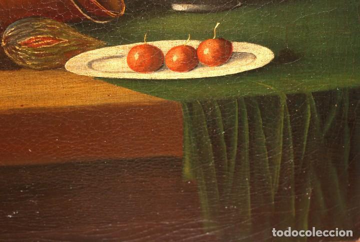 Arte: ESCUELA ESPAÑOLA DE FINALES DEL SIGLO XVIII. OLEO SOBRE TELA. BODEGON - Foto 10 - 240455010