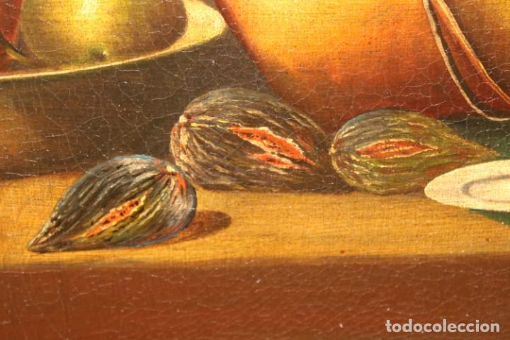 Arte: ESCUELA ESPAÑOLA DE FINALES DEL SIGLO XVIII. OLEO SOBRE TELA. BODEGON - Foto 11 - 240455010