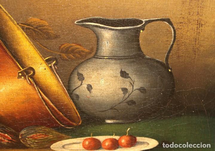 Arte: ESCUELA ESPAÑOLA DE FINALES DEL SIGLO XVIII. OLEO SOBRE TELA. BODEGON - Foto 12 - 240455010