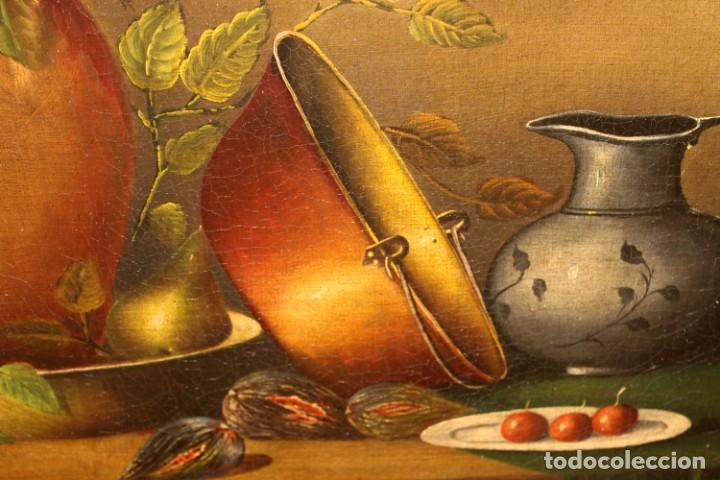 Arte: ESCUELA ESPAÑOLA DE FINALES DEL SIGLO XVIII. OLEO SOBRE TELA. BODEGON - Foto 13 - 240455010