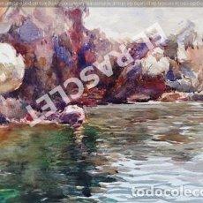 Arte: CUADRO ACUARELA - AIGUAMOLLS- DEL PINTOR - JOSEP MARFA GUARRO BCN - AÑO 1981. Lote 240476265