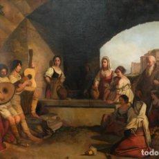 Arte: ÓLEO SOBRE LIENZO ESCENA COSTUMBRISTA ESCUELA ITALIANA SIGLO XIX. Lote 240526370