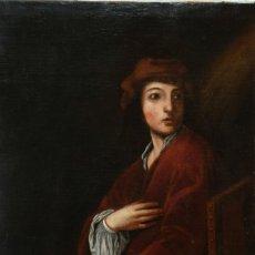 Arte: ÓLEO SOBRE LIENZO RETRATO JOVEN ESCUELA ITALIANA SIGLO XVII. Lote 240534040
