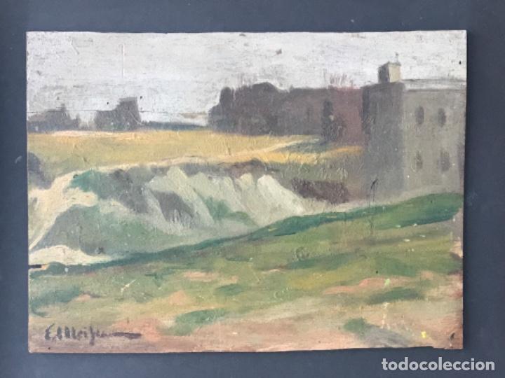 E.MEIFREN OLEO SOBRE TABLA FINALES SIGLO XIX.PAISAJE. (Arte - Pintura - Pintura al Óleo Moderna siglo XIX)