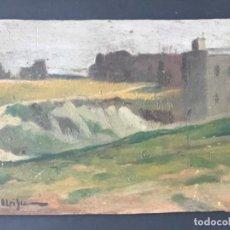 Arte: E.MEIFREN OLEO SOBRE TABLA FINALES SIGLO XIX.PAISAJE.. Lote 240577580