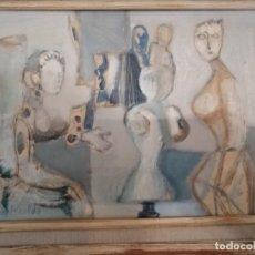 Arte: CUADRO OLEO SOBRE TABLA DE JUAN ALCALDE, ENMARCADO. 29,5X21. SIN TÍTULO.. Lote 240608705