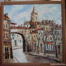 Arte: OLEO SOBRE LIENZO VISTAS AL CASCO ANTIGUO CIUDAD. Lote 240657390