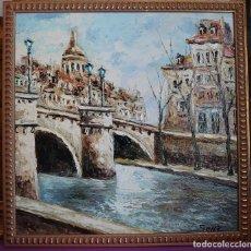 Arte: OLEO LIENZO VISTA CASCO ANTIGUO CIUDAD DESDE PUENTE ROMANO. Lote 240658600