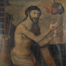 Arte: ÓLEO SOBRE TELA CRISTO CON DIOS PADRE ESCUELA COLONIAL SIGLO XVII-XVIII. Lote 240703220