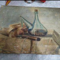 Arte: ÓLEO BODEGÓN DE 1847 FIRMA C. ALONSO. Lote 240764445