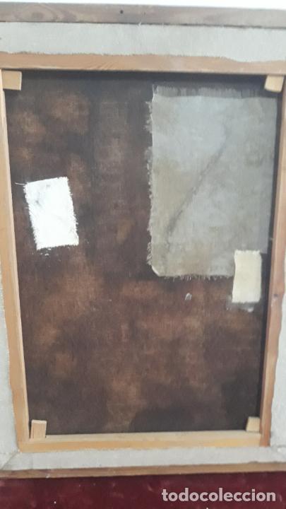 Arte: magnifica pintura al oleo de fin del xvii principios xviii tema mitologico con angeles,marco antiguo - Foto 7 - 240771520