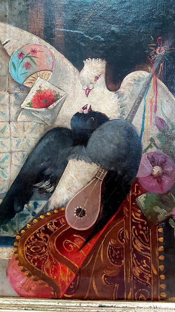 Arte: ÓLEO SOBRE LIENZO DE RAMÓN MARTÍ ALSINA ( 1826-94) - Foto 4 - 191271148