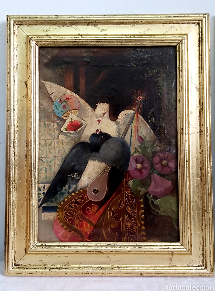 ÓLEO SOBRE LIENZO DE RAMÓN MARTÍ ALSINA ( 1826-94) (Arte - Pintura - Pintura al Óleo Moderna siglo XIX)