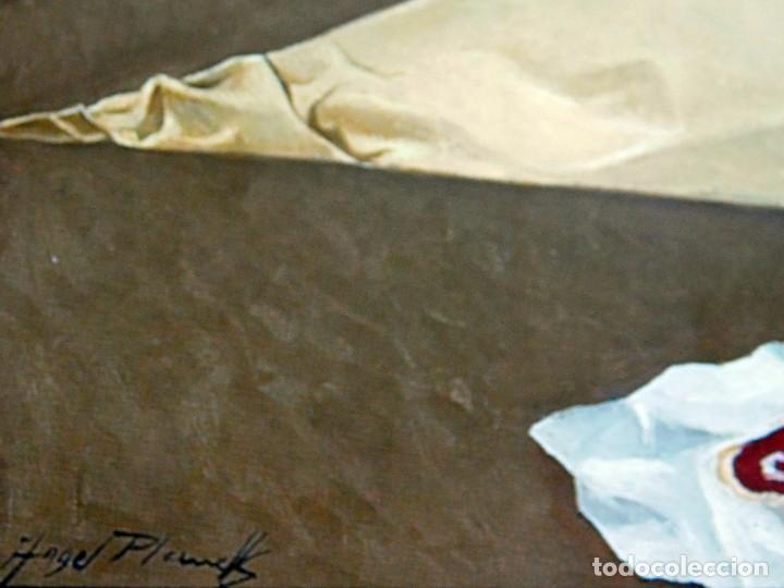 "Arte: ANGEL PLANELLS 1901/1989 - OLEO / LIENZO - ""BODEGÓ 1970"" - 73 X 54 CM - OBRA CATALOGADA - VER FOTOS - Foto 3 - 241197525"