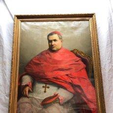 Arte: RETRATO OLEO SOBRE LIENZO DE CARDENAL FIRMADO POR T. VARUCCA ROMA 1896. Lote 241407000