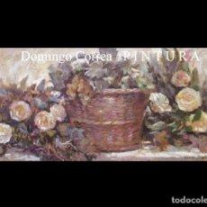 Arte: 'UVAS Y ROSAS BLANCAS' FIRMADO. DOMINGO CORREA. ÓLEO SOBRE TABLA 88 X 39 CM. SIN MARCO. Lote 47126394
