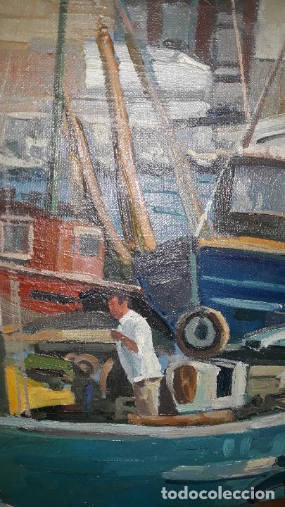Arte: magnifica pintura al oleo sobre lienzo firmado fresquet,fina mano impresionista - Foto 2 - 241479525