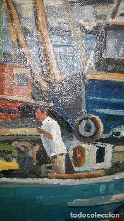 Arte: magnifica pintura al oleo sobre lienzo firmado fresquet,fina mano impresionista - Foto 3 - 241479525