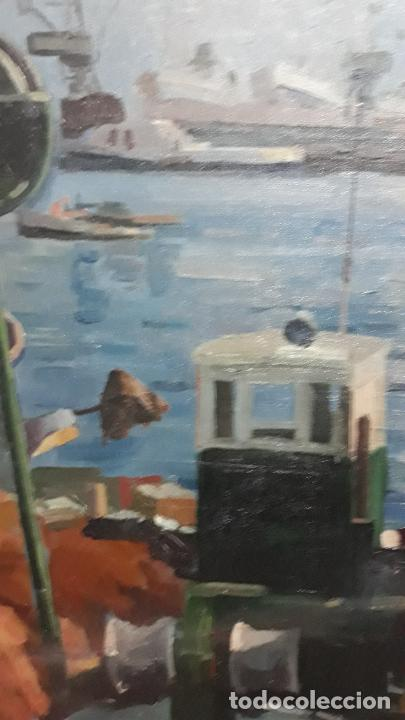 Arte: magnifica pintura al oleo sobre lienzo firmado fresquet,fina mano impresionista - Foto 6 - 241479525
