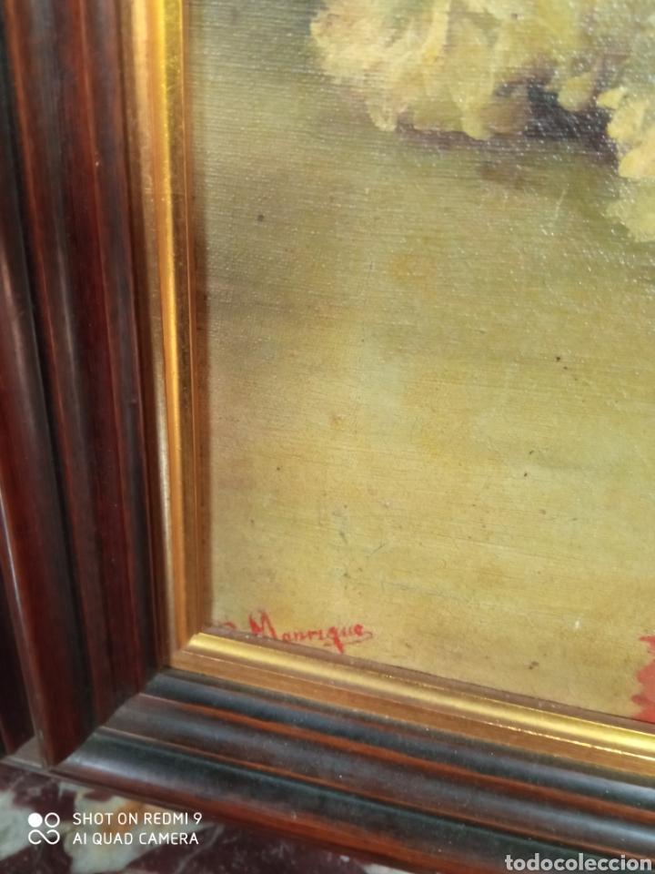 Arte: Bonito bodegón de flores XlX firmado óleo sobre lienzo - Foto 7 - 215063595