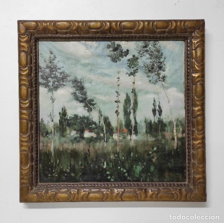 IGNACIO MALLOL CASANOVAS (1892-1940) - ÓLEO SOBRE TELA - PAISAJE (Arte - Pintura - Pintura al Óleo Contemporánea )