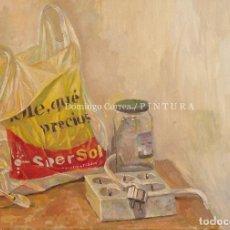 Arte: DOMINGO CORREA. 'OLÉ QUÉ PRECIOS'. ÓLEO SOBRE LIENZO. SUPERSOL. REALISMO. SUPERMERCADO.. Lote 30761698