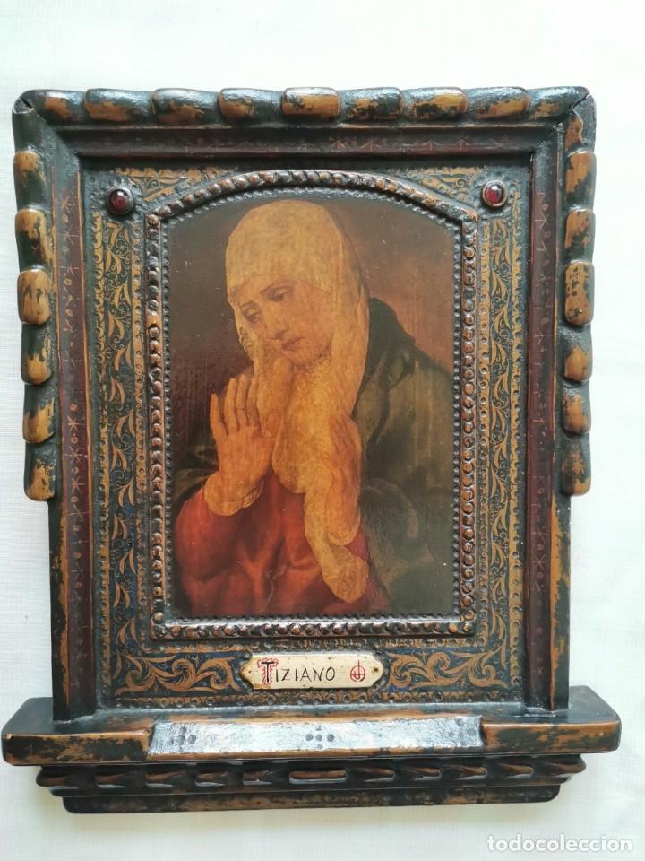 REBAJAS! CUADRO ICONO ANTIGUO TIZIANO (Arte - Pintura - Pintura al Óleo Antigua siglo XVIII)