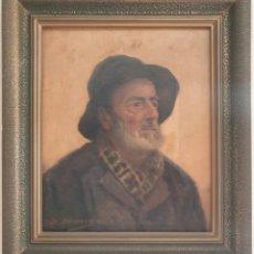 Arte: DIONIS BAIXERAS VERDAGUER (BARCELONA, 1862-1943) - UN PESCADOR.OLEO/TELA.FIRMADO.. Lote 240623835