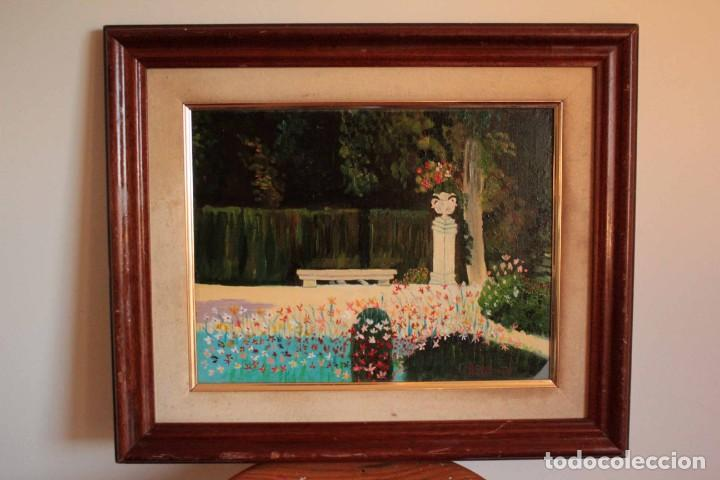 Arte: Escuela española del siglo XX. Oleo sobre lienzo. Firmado F. Beneyto. Enmarcado 48x40cm - Foto 2 - 242857365