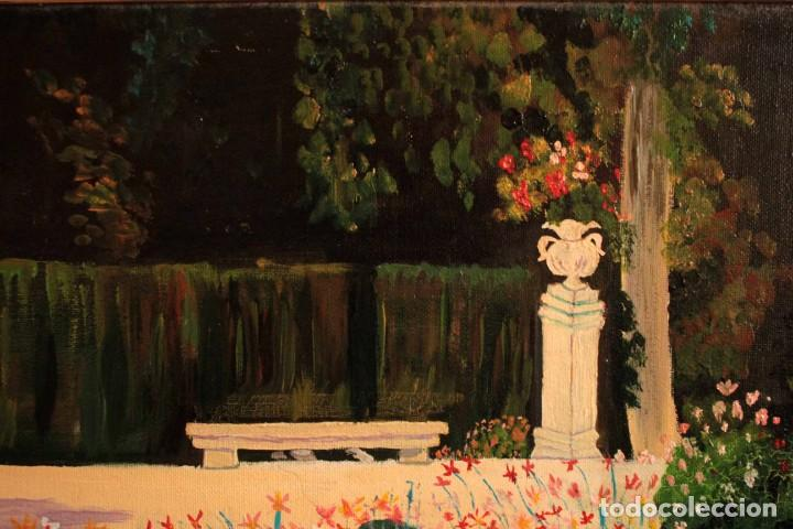 Arte: Escuela española del siglo XX. Oleo sobre lienzo. Firmado F. Beneyto. Enmarcado 48x40cm - Foto 3 - 242857365