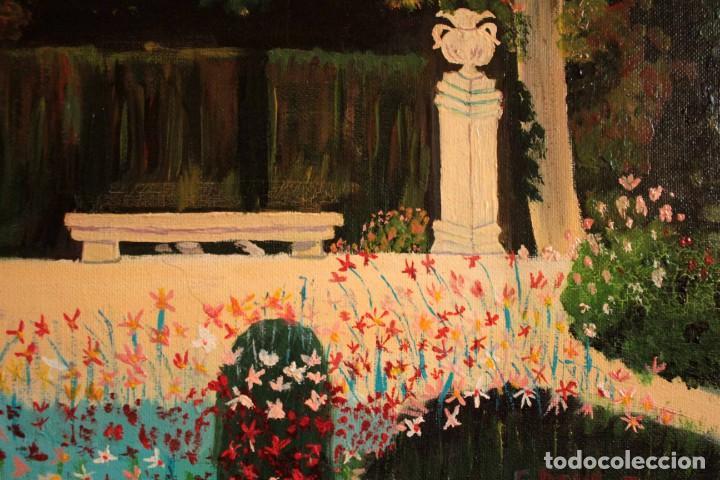 Arte: Escuela española del siglo XX. Oleo sobre lienzo. Firmado F. Beneyto. Enmarcado 48x40cm - Foto 4 - 242857365