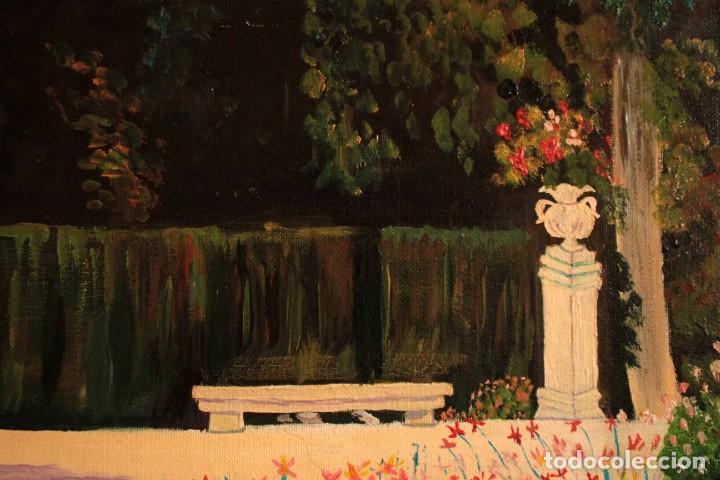 Arte: Escuela española del siglo XX. Oleo sobre lienzo. Firmado F. Beneyto. Enmarcado 48x40cm - Foto 5 - 242857365
