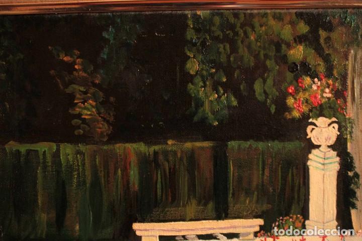 Arte: Escuela española del siglo XX. Oleo sobre lienzo. Firmado F. Beneyto. Enmarcado 48x40cm - Foto 6 - 242857365