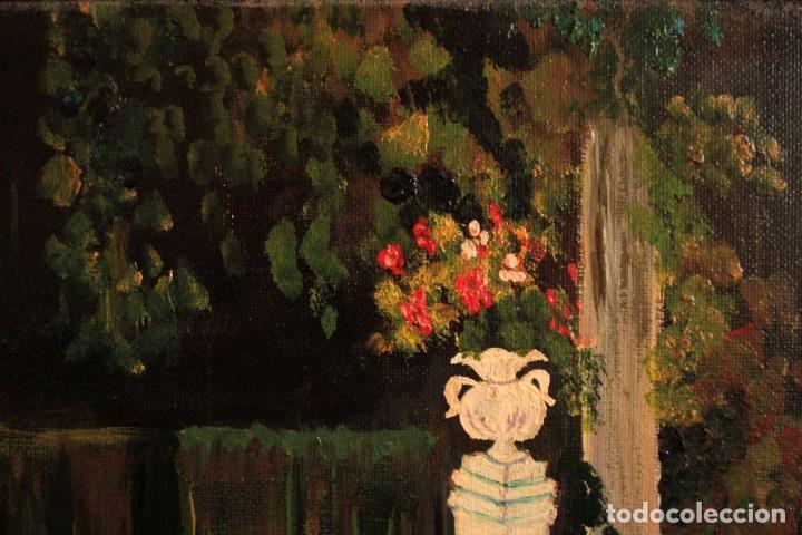 Arte: Escuela española del siglo XX. Oleo sobre lienzo. Firmado F. Beneyto. Enmarcado 48x40cm - Foto 7 - 242857365