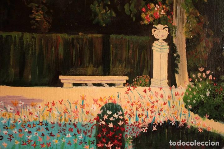 Arte: Escuela española del siglo XX. Oleo sobre lienzo. Firmado F. Beneyto. Enmarcado 48x40cm - Foto 8 - 242857365