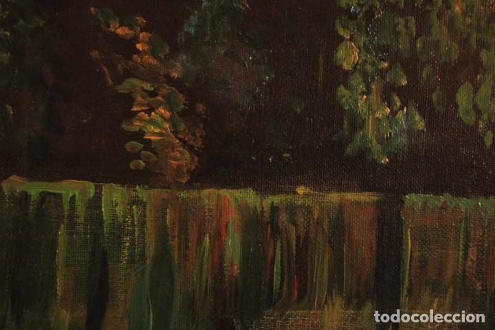 Arte: Escuela española del siglo XX. Oleo sobre lienzo. Firmado F. Beneyto. Enmarcado 48x40cm - Foto 11 - 242857365