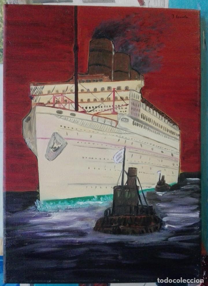 JOAN ESCODA. PINTURA SOBRE TELA 46 X 33 (Arte - Pintura - Pintura al Óleo Contemporánea )