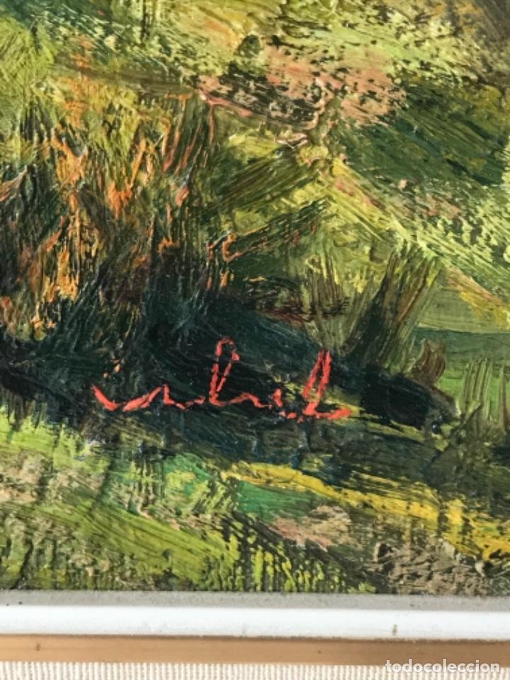 Arte: VISTA DE LA CIUDAD DE LLEIDA. OLEO SOBRE TABLEX FIRMADO. 1950'S. - Foto 7 - 242938080