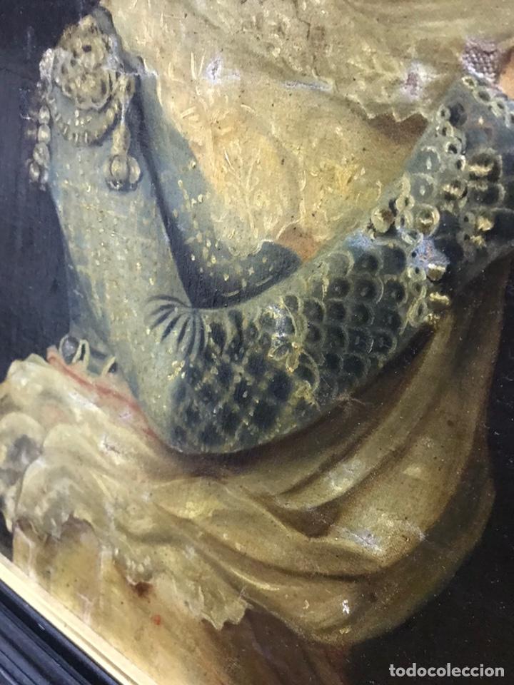 Arte: Antiguo retrato al óleo restaurado rentelado - Foto 3 - 243002355
