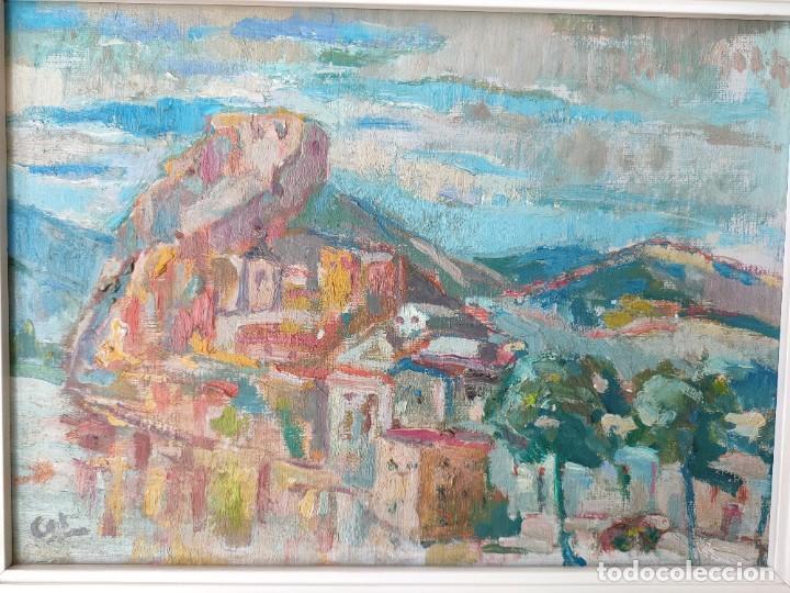 ÓLEO SOBRE LIENZO FIRMADO VISTA URBANA (Arte - Pintura - Pintura al Óleo Contemporánea )