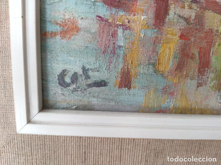 Arte: Óleo sobre lienzo firmado vista urbana - Foto 3 - 243170070