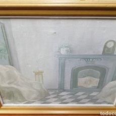 """Arte: CUADRO A ÓLEO. """"RELOJ SIN HORA"""" FIRMADO: FRANCES. Lote 243197155"""